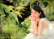 Outdoor Photoshoot, Wedding Dress Grown Theme @ Garden By Bay (Model: Jasmine)