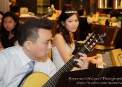 Kevin & Lyn wedding lunch reception music performance at Ban Heng, Orchard Central