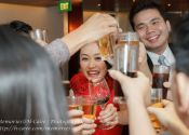 John & Mei Actual Day Wedding Photography toasting @ Spring Court Restaurant