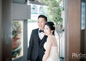 Ben & Winly Actual Day couple waiting for guests  @ Spring Court Restaurant 01