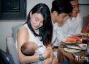 Ben & Winly Actual Day Wedding pretty girl with baby Photography @ Spring Court Restaurant 10
