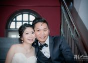 Ben & Winly Actual Day Wedding couple photoshoot at staircase Photography @ Spring Court Restaurant 13